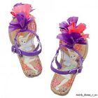 NEW Disney Store Peter Pan Tinker Bell Sandals Girls Purple Pink Tink Tinkerbell