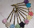 Rose Kirby Grips Clips,Wedding,Flower Girl,Hair Accessories,Party,Festival,Boho