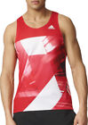 adidas Adizero Mens Running Singlet - Red