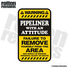 Pipeliner Warning Yellow Decal Oil Rig Pipeline Hard Hat Gloss Sticker HGV