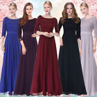 Ever Pretty Lace Formal Evening Gowns Half Sleeve Prom Party Maxi Dresses 08412
