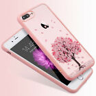 Shockproof Sakura Pattern Hybrid Clear Hard Case Cover For iPhone 8 7 5 6s Plus