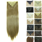 Long Clip In Remy Human Hair Extensions Full Head Extra Thick Black Blonde Brown