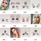 Face Eye Rhinestone Jewels Acrylic Body Art Stickers Tattoo Xmas Festival Party