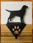 rustic stockings christmas - Christmas Stocking Hanger Holder Lab Dog Rustic Holiday Mantle Decor