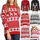 Women Christmas Xmas Long Sleeve Jumper Sweater Retro Novelty Vintage Girls Tops