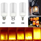 LED Burning Flicker Flame Effect Fire Light Bulb E27 E14 B22 Decorative Lamp