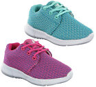 Ascot Weave II Fitness Sport Lace Lightweight Mesh Trainers Shoes Girls UK 8-2
