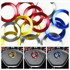 Bright Circle Steering Wheel Sticker for Volkswagen VW Tiguan Chrome Trim Sticke