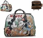 New Holiday Holdall Trolley Weekend Bag Mickey Mouse Hand Luggage Travel Handbag