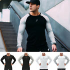 Compression Tops Workout Gym Sport Mens Tights Long Sleeve Bodybuilding T-shirt
