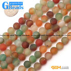 Colorful Agate Frost Round Beads For Jewelry Making Free Shipping Strand 15""