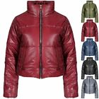 Womens Ladies Quilted Padded Puffer Bubble Cropped Warm Thick Coat Crop Jacket