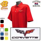 C6 CORVETTE EMBLEM EMBROIDERED MEN'S POLO SHIRT BDC6EP8020