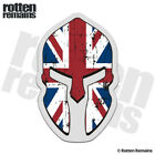 British Union Jack Flag Spartan Helmet Decal UK Great Britain Gloss Sticker HVG