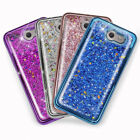 For Samsung Galaxy J7 Prime Chrome Glitter Liquid Case+Tempe