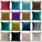 """Soft Velvet Solid Color Sofa Bed Couch Throw PILLOW COVER Cushion Case 18x18"""" US"""