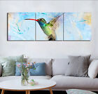 "Abstract Art Canvas Print Paint Wall Picture-Hummingbird Home Decor 16x16""x3pcs"