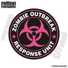 Zombie Outbreak Response Unit Pink Decal Control Team Gloss Sticker HVG