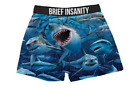 "Men's Boxer Shorts Sharks Underwear Brief Insanity Boxers  ""SALE ITEM"""