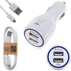 Universal Adaptive Rapid Dual USB Car Charger + 1M Fast Charging Micro USB Cable