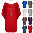 Womens Ladies Dipped Hem Baggy Oversized Knitted Loose Fit Batwing High Low Top