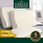 Giselle Bedding 100% Natural Latex Pillow Low Contour Pillows Crate Bed Sleep