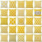 """Yellow Home Decor Throw PILLOW COVER Couch Sofa Waist Bed Cushion Case 18x18"""" US"""