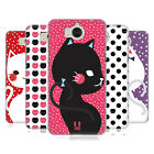HEAD CASE DESIGNS CATS AND DOTS HARD BACK CASE FOR HUAWEI Y6 (2017) / NOVA YOUNG