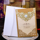 gold invitation cards - Gold Wedding Invitation Cards With Envelopes+Seals+Custom Personalized Printing