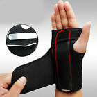 Splint Carpal Tunnel Syndrome Wrist Support Brace Sprain Strain Protector Black
