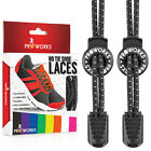 Proworks Elastic No Tie Laces Shoe Boot &amp; Trainer Easy Lock Reflective Shoelaces <br/> 8 Colours Available &brvbar; Fast Delivery &brvbar; Fully Adjustable