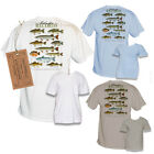 1-FRESHWATER RECORDS SPORT GAME FISH FLY FISHING GEAR GRAPHIC PRINTED POCKET TEE