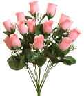 14 Roses Buds ~ MANY COLORS ~ Bride Bouquets Wedding Centerpieces Silk Flowers
