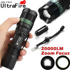 Flashlight 18650 20000LM T6 LED Bicycle Bike Lamp Laser Flashlights Mount Zoom B