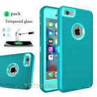 New Shockproof Case With Tempered Glass Screen Cover For Apple iPhone 7 6S 5S SE