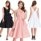Vintage 50s 60s Wiggle Flared Dress Cocktail Evening Party Housewife Swing Dress