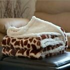 Soft Fuzzy Warm Cozy Throw Blanket with Sherpa Backing - 50 x 60 Animal Prints image
