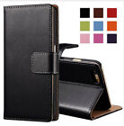 Genuine Leather Wallet Case With Card Slot Kickstand Phone Pouch For iPhone X 7