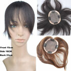 10*13cm 8inch 100% Virgin Human Hair Replacement Clip In Hair Top Piece Toupee