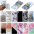 For Sony Xperia L1 Luxury Marble Pattern Shockproof Slim Soft Rubber Case Cover