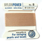 CHOOSE COLOR!!  Nylon Bead Stringing Cord & Needle- Fine Beading Thread