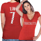 Houston Rockets Majestic Threads Ladies Tri-Blend Name And Number