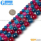 """Multi-Color Agate Gemstone Round Beads For Jewelry Making Free Shipping 15"""""""