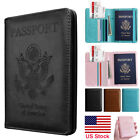 Kyпить Premium Leather RFID Blocking Passport Travel Wallet Holder ID Cards Cover Case на еВаy.соm