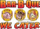 (Choose Your Size) Bar-B-Que BBQ We Cater DECAL Food Truck Concession Restaurant