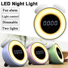 DIgital Wake-up Light Control Alarm Clock LED Bedside Night Lamp Touch Dimmable