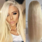 New Bleach Blonde Human Hair Wigs Pre Plucked Natural Hairline Lace Front Hy8