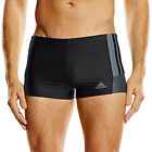 Внешний вид - adidas Performance Mens Infinitex Inspiration Swimming Swim Boxer Trunks- Black