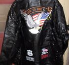 Motorcycle Jacket Men's Diamond Plate Rock Design Genuine Buffalo Leather MULTI
